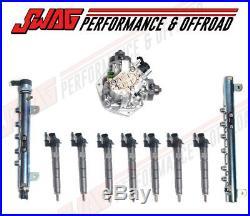 11-16 GM 6.6 6.6L LML Duramax Diesel Fuel System Kit CP4 Pump Injectors & Rails