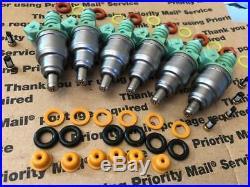 160lb Upgrade! 87-97 Jeep 4.0l Bosch Fuel Injectors Set 6 Ev1 0280150839