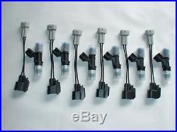 350Z 370Z Maxima G35 G37, 6 NEW genuine Bosch EV14 60lb 630cc fuel injectors