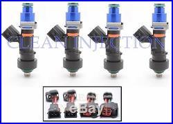 4 BOSCH 1000cc EV14 Fuel Injectors OBD2 D16 H22 B Series Civic Integra Honda