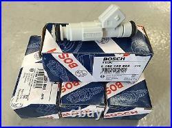 4 Genuine BOSCH 0280155868, 36lbs/hr New Generation Fuel Injectors NEW SET