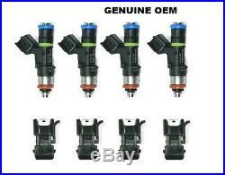 4 OEM Bosch 60lb 630cc fuel injectors 1.8T turbo Audi A4 TT VW Golf Jet EV14