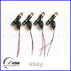 4 x 850cc fuel injectors for TOYOTA CELICA GT-4 MR2 TURBO 3SGTE fit BOSCH EV14