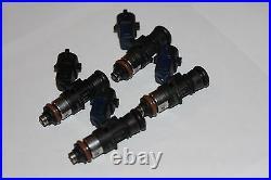 4 x BOSCH 2200cc Fuel Injectors E85 OK ID2000 2000cc Indy Blue SR20 3S EJ20 EJ25