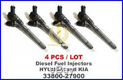 4PCS Bosch CRDI Diesel Fuel Injector 33800-27900, 0445110290