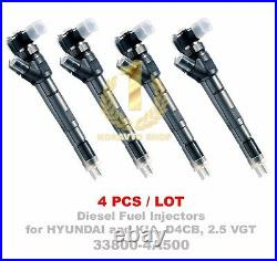 4PCS Bosch CRDI Diesel Fuel Injector 33800-4A500 0445110275