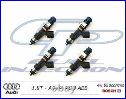 4x 550cc BOSCH EV14 Fuel Injectors 1.8T AUDI (AGU AEB) USCAR