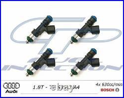 4x 630cc BOSCH EV14 Fuel Injectors 1.8T TT S3 A3 A4 AUDI USCAR