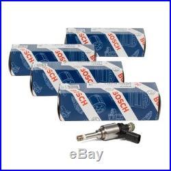 4x BOSCH 0261500160 Einspritzventil AUDI A3 A4 A5 SEAT SKODA VW GOLF 6 1.8 TSI