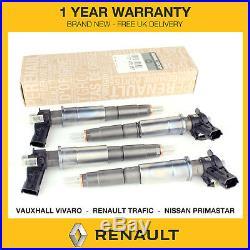 4x Genuine Renault Fuel Injectors Fits Vauxhall Vivaro 2.0 DCI M9R 0445115007