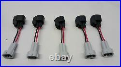 5 Genuine Bosch EV14 52lb 550cc fuel injectors 04-14 VW Jetta 2.5 5 cylinder mk5