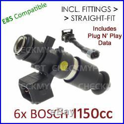6x BOSCH 1150cc E85 Fuel Injector Set-up For Nissan Skyline R32/R33/R34 GTR