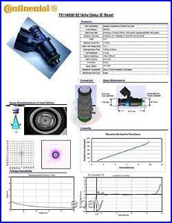 8 Flowmatched Genuine Siemens 80LB EV6 Short Stubby Pico Fuel Injectors Bosch fi