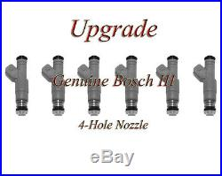 93-95 Jeep 4.0 (6) BOSCH III UPGRADE FUEL INJECTOR SET 4-HOLE NOZZLE
