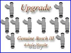 94-95 Dodge Ram V10 8.0L (10) BOSCH III UPGRADE FUEL INJECTOR SET 4-HOLE NOZZLE