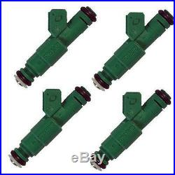 BOSCH 42# 440cc GENUINE GREEN GIANTS FUEL INJECTORS (4) TURBO 1.8T/2.3T