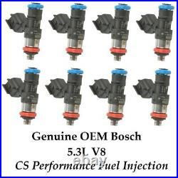 Bosch Fuel Injectors 0280158091 (8) set for 05-09 Buick Chevy Pontiac 5.3L V8