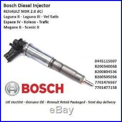 Brand New Genuine Renault Diesel Fuel Injector 0445115007 2.0 Dci M9R