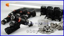 Fit Nissan 300zx Z31 550cc fuel injectors rail 84-89 VG30 VG30ET VG30DE VG30E SV