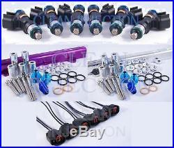 Fit Nissan Skyline RB25DET r33 GTS-T 1000cc Bosch Fuel Injectors Kit Fuel Rail
