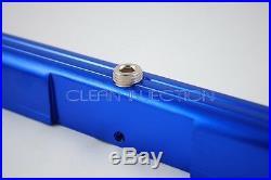 Fits Nissan Skyline RB26 r33 r34 r32 bosch ev14 1200cc fuel injectors Rail Blue