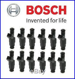 For BMW E31 850Ci 850CSi E32 750iL Set of 12 Fuel Injectors OEM Bosch