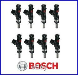 GENUINE Bosch 0280158123 590cc 56lb Long Nozzle EV1 6-Hole Fuel Injectors (8)