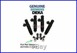 GENUINE SIEMENS DEKA 60LB 630cc Fuel Injectors 107961 VW Audi Bosch 1.8T AGU 4