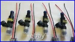 Genuine Bosch 210lb 2200cc fuel injectors Honda Acura B D F series engines 11mm