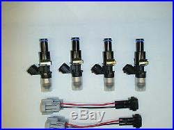 Genuine Bosch 210lb 2200cc fuel injectors Honda Acura B D H F series engine 11mm