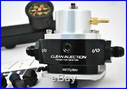 Honda K Series K20 K24 Swap Bosch ev14 1000cc fuel injectors rail regulator line