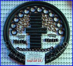 Jaguar V12 HE Bosch 0280150161 Complete Fuel Injector Service Kit & 2mtrs Hose