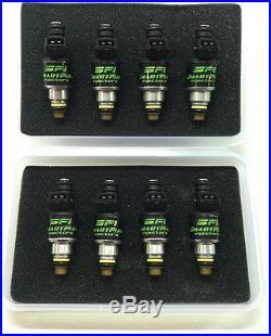 NEW 8x 42lb 440cc Fuel Injectors Bosch EV1 Style GM LT1 LS1 LS6 Ford SOHC DOHC E