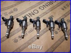 Oem Audi Rs3 8v Ttrs 8s 2.5l Tfsi 400hps Fuel Injectors 5pcs New! 07k906036g