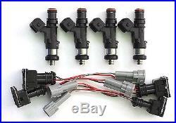 Set 4 2200cc Bosch EV14 Fuel Injectors for 2007-2015 Subaru WRX, STI NEW E85
