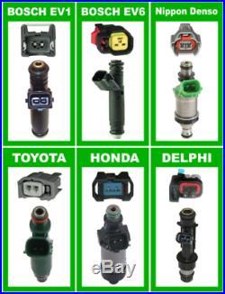 Set New 1000cc BOSCH Fuel injectors E85 OK for R32 R33 R34 RB26DETT Stock rail