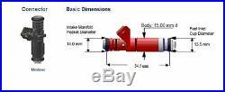 Siemens Deka V 80lb/hr Fuel Injectors EV1 Bosch Short 48mm A2C32624700 Set (8)