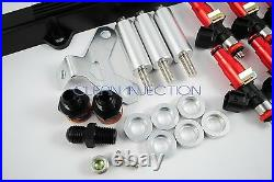 Toyota Supra 2JZGTE 2jz-gte Bosch ev14 850cc fuel injector kit rail black