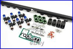 Toyota Supra MKIV 2JZGTE 2200cc Bosch ev14 fuel injectors RADIUM Rail top feed