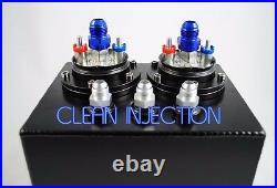 Twin AEM 50-1005 380LPH -8 an8 8an 6an -6 an6 Fuel Pump 3L surge tank 044 bosch