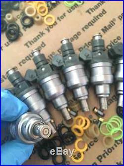 Upgrade! 87-97 Jeep 4.0l Bosch Fuel Injectors Set 6 24lb Ev1